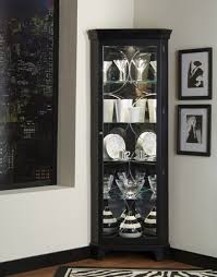 pulaski oxford black corner curio cabinet by pulaski home