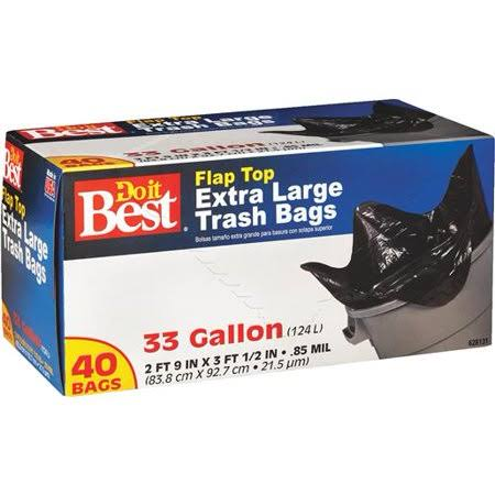 Do it Best Flap Top Extra Large Trash Bags - 33gal, 40ct