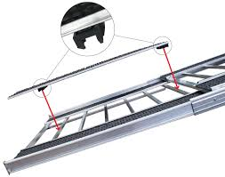 Sled Deck Ramp Width by Caliber Snowmobile Trailer Ramp Pro