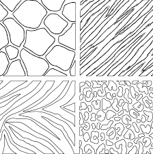 Stylish And Peaceful Animal Print Coloring Pages Transfer