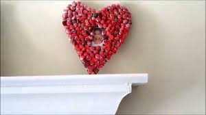 Recycle Valentine Wall Hanging Out Recycled Paper Balls Youtube