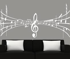 Modern Wall Art Music Notes Decal 3d Mural Very Cool