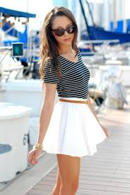 Skirt White Nice Pretty Clothes Summer Dress Cute Girly Girl Shirt
