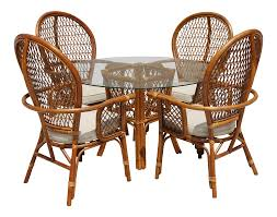 Rattan Dining Table With Glass Top And 4 Chairs - Set Of 5 ... 315 Round Alinum Table Set4 Black Rattan Chairs 8 Seater Ding Set L Shape Sofa Brown Beige Garden Amazoncom Chloe Rossetti 17 Piece Outdoor Made Coffee Table Set Stock Photo Image Of Contemporary Hot Item Modern Fniture Stainless Steel And Lordbee Large 5 Pcs Patio Wicker Belleze 3 Two One Glass Details About Chair Cushion Home Deck Pool 3pc Durable For Pcs New Y7n0