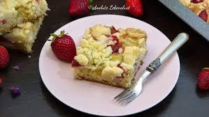 erdbeer rhabarber kuchen backen rhabarberkuchen mit