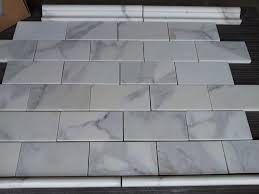 calacatta 3纓6 subway tile marble the builder depot