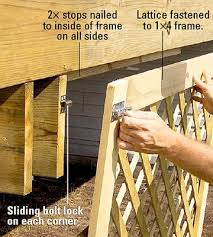 Metal Deck Skirting Ideas by 31 Best Deck Skirting Images On Pinterest Deck Skirting Porch