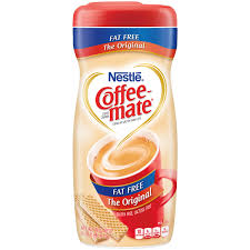 Nestle Coffeemate Fat Free Original Powder Coffee Creamer 16 Oz Canister