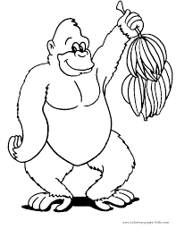Gorilla Coloring Pages For Kids