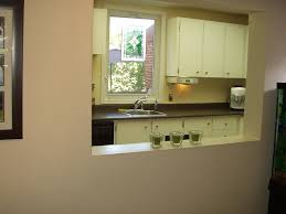 Looking Into Kitchen From Dining Room Pass Through Window