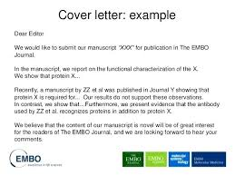 Cover Letter For Medical Journal Submission Covering Example