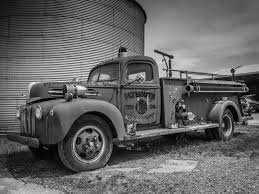 100 Black Fire Truck And White Fine Art Print Junkyard Old Etsy