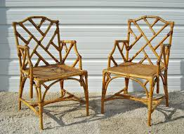 Retro Cane Chairs Vintage Bamboo Rattan Furniture For Sale Full Size