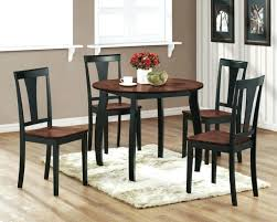 Small Dining Table For 4 Chairs Black Wood Space Set And