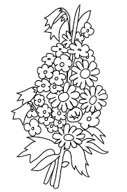 Coloring Page With Buttercups Bouquet To Color