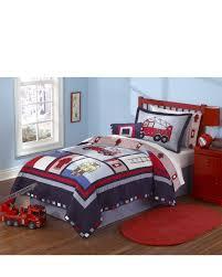 Firetruck Bedding - White Bed