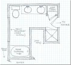 Basement Bathroom Designs Plans by Master Bathroom Floorplan Sketch Patti When We Start Talking