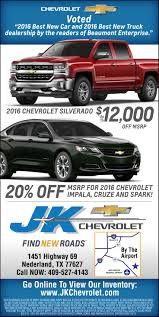J K Chevrolet - Voted Best New Truck Dealership 2016