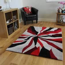 fr cuisine tapis moderne noir et gris motif abstrait 3 tailles amazon