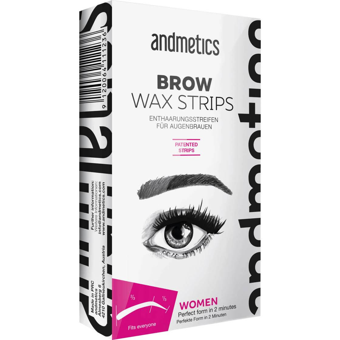 Andmetics Brow Eyebrow Wax Strips Women