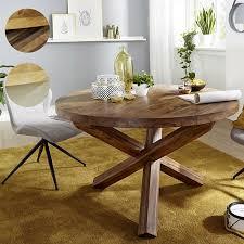 wohnling esszimmertisch boha ø 120 cm x 75 cm massivholz landhaus esstisch 4 personen küchentisch tisch