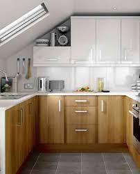 Small Narrow Kitchen Ideas by Wooden Kitchen Cabinet Wihte Cabinet In Modern Small Kitchen