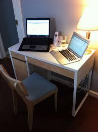 Corner Desk Ikea Micke by Decorating Chic Corner Ikea Micke Desk In White And Black With