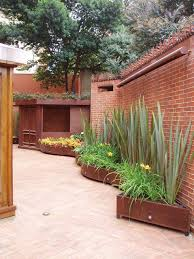 tall fern planters patio contemporary with iron planters modern