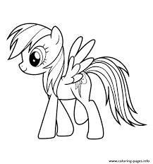 My Little Pony Rainbow Dash Coloring Pages Funycoloring