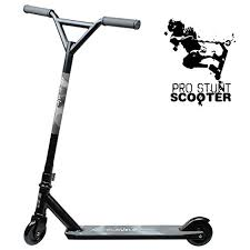 AccelaVelo Stealth Black Stunt Kick Scooter