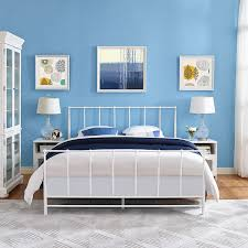 Types Of Beds by Bedroom Types Of Beds Metal Frame In White Also Blue Paint Wall