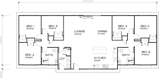 PLB153 Six Bedroom Transportable Homes House Plan