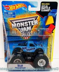 100 Blue Monster Truck Hot Wheels Thunder Jam 2015 Battle Slammer 164