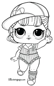 Lol Dolls Coloring Pages Short Stop Series 3 Wave 2 Surprise Doll Page