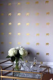Elephant Preppy Wallpaper For Elegant Dining Room Idea