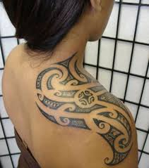Tribal Shoulder Blade Tattoo