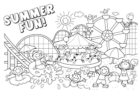 Beach Coloring Pages Throughout New At The