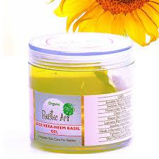 Organic Aloe Vera Neem Basil Gel Rustic Art Chemical Free Rashes Diaper Rash Nappy Bites