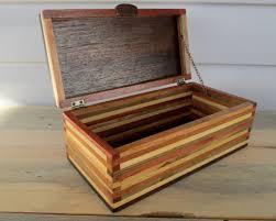 Wood Box Desk Organizer Keepsake Strip