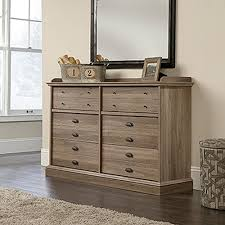 6 Drawer Dresser Walmart by Sauder Barrister Lane 6 Drawer Salt Oak Dresser 418902 The Home