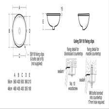 Corian 810 Sink Cad File by Marlow 48cm Under Countertop Washbasin Under Countertop