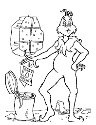The Grinch Throws Christmas Letters Out Coloring Page