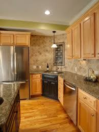 Kitchen Backsplash With Oak Cabinets by Stupendous Natural Maple Kitchen Cabinets Granite Best Countertops