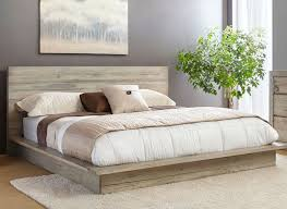 White Washed Modern Rustic 6 Piece California King Bed Bedroom Set