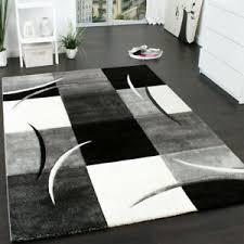 teppich schwarz weiss grau günstig kaufen ebay