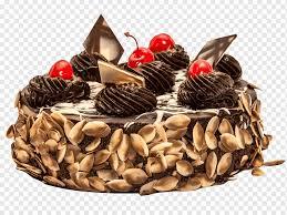 torte schokoladenkuchenpizza zuckerguss und pudercupcake