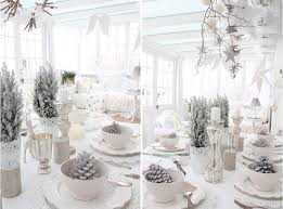 Shabby Chic Wedding Decorations Uk by Indoor Winter Wonderland White Shabby Chic Christmas Table Decor