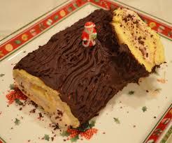 hervé cuisine buche marron bûche de noël aux fruits exotiques et au chocolat recette