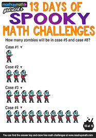 Scary Halloween Riddles And Answers by Are Your Kids Ready For 13 Days Of Spooky Math Challenges