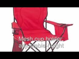Coleman Camping Oversized Quad Chair With Cooler by Coleman Broadband Quad Chair Red Youtube